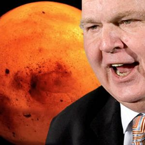 """Rush Limbaugh is a Mars truther: NASA's lying about flowing water on planet """"to advance leftist agenda"""""""