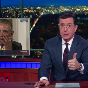 Wow, Stephen Colbert on guns and President Obama's tears is absolutely perfect