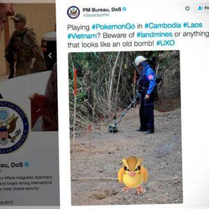 U S  State Dept  Pokémon Go tweet about unexploded bombs