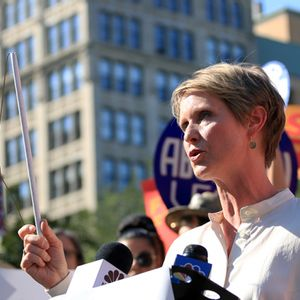 "Cynthia Nixon declares herself a ""democratic socialist"": ""Count me in"""