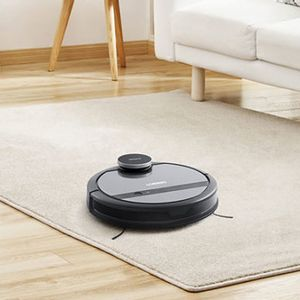 This smart vacuum cleans up while you're away