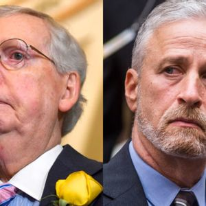 """Jon Stewart claims Mitch McConnell has used 9/11 Victim Compensation Fund as a """"political football"""""""