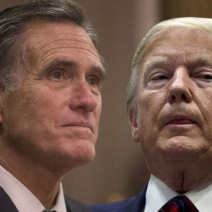 Mitt Romney excuses himself and walks away when reporter asks him if Trump's tweets were racist
