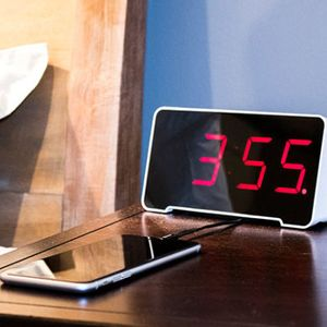 This alarm clock acts as a charging station & organizer