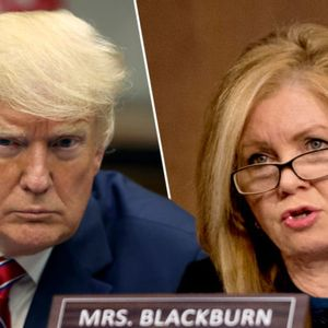 Sen. Marsha Blackburn takes one for Trump, defends flow of Russian money