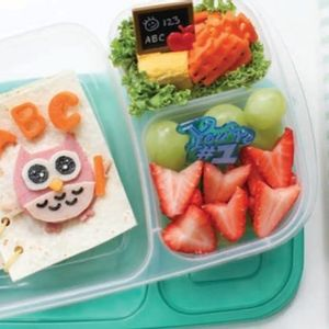 An owl teacher welcomes your little one back to school in this cheerful bento box