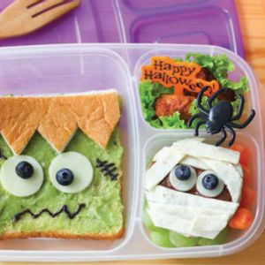 Can't get hold of green bread? Here's how to transform your kid's lunch into a monster for Halloween