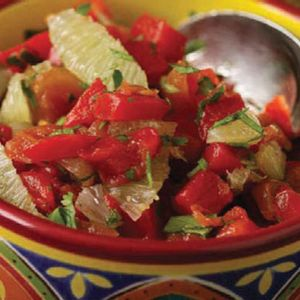 Tangy, not spicy: This salsa will appeal to most — try it as a dip with veggies or baked chips