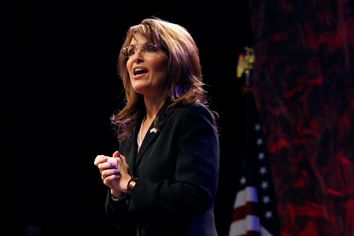 Sarah Palin speaks during the National Tea Party Convention at Gaylord Opryland Hotel in Nashville
