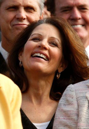 Bachmann at a rally about healthcare on Capitol Hill in Washington