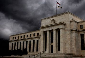 The Federal Reserve building is shown in Washington