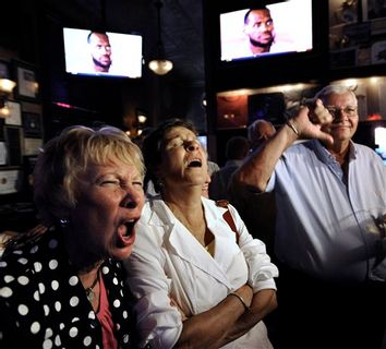LeBron James, Marianne Gilligan, Ed Gilligan, Ann Deignan
