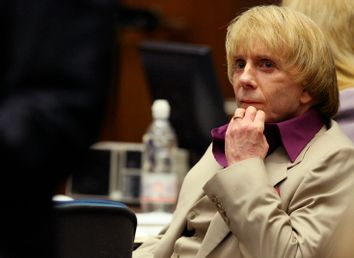 Phil Spector sits in court during opening statements in his murder trial in Los Angeles