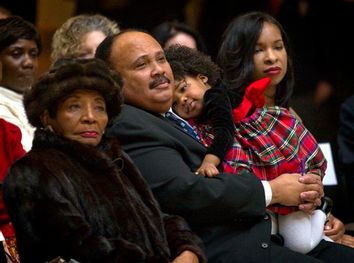 Martin Luther King III, Arndrea King, Yolanda King, Christine King Farris