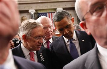 Barack Obama, Patrick Leaqhy, Harry Reid