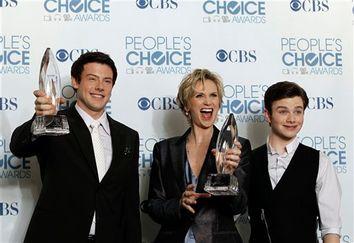 Cory Monteith, Jane Lynch, Chris Colfer