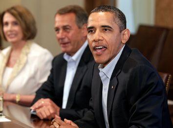 Barack Obama, John Boehner, Nancy Pelosi