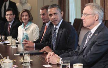 Barack Obama, John Boehner, Harry Reid, Eric Cantor
