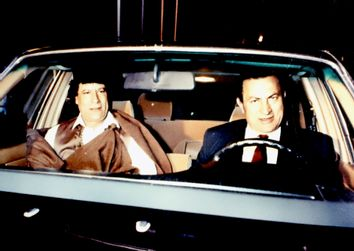 Moammar Gadhafi, Hosni Mubarak