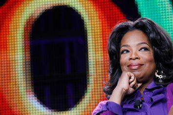 Winfrey attends a panel during the Oprah Winfrey Network Television Critics Association winter press tour in Pasadena