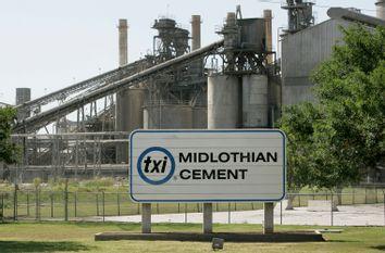 The TXI Midlothian Cement plant in Midlothian, Texas