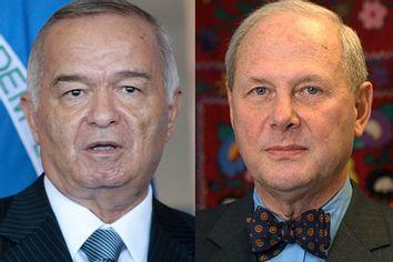 Uzbek president Islam Karimov and his admirer professor Frederick Starr