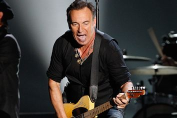 Bruce Springsteen performs at the 54th annual Grammy Awards in Los Angeles, California