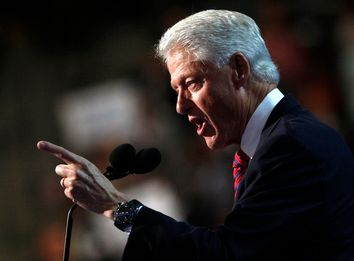 Former U.S. President Bill Clinton addresses the second session of the Democratic National Convention in Charlotte