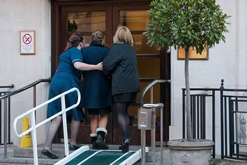 Nurses at the King Edward VII hospital London.7/12/12