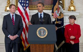 Barack Obama, Mary Jo White, Richard Cordray