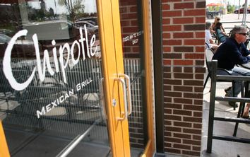 Diners at Chipotle Mexican Grille