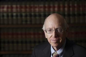 Federal Judge Richard Posner poses in his Chambers in Chicago