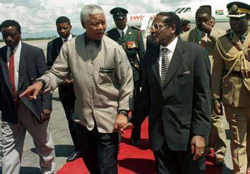 Nelson Mandela, Robert Mugabe
