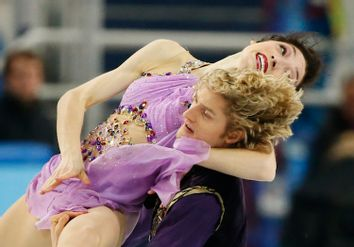 Meryl Davis and Charlie White of the U.S. compete during the Figure Skating Ice Dance Free Dance Program at the Sochi 2014 Winter Olympics