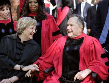 Drew Faust, George H. W. Bush, Isabel Allende, Aretha Franklin