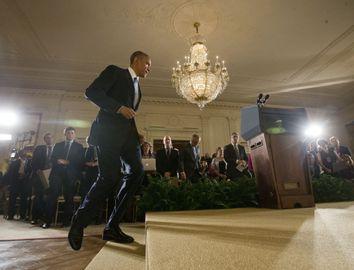 Barack Obama, Denis McDonough, Valerie Jarett