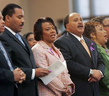 Dexter King, Bernice King, Martin King