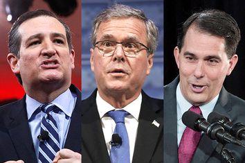 Ted Cruz, Jeb Bush, Scott Walker