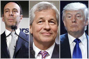 Edward Lampert, Jamie Dimon, Donald Trump