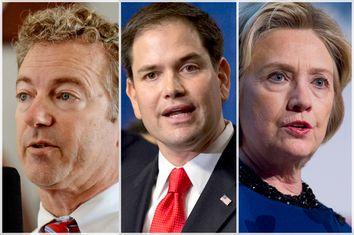Rand Paul, Marco Rubio, Hillary Clinton