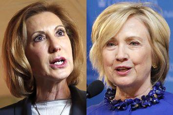 Carly Fiorina, Hillary Clinton