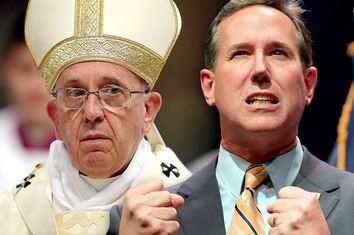 Pope Francis, Rick Santorum