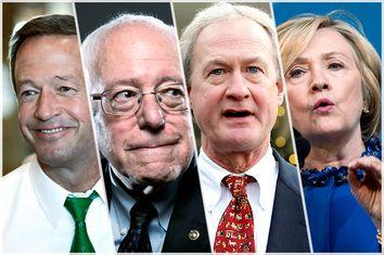 Martin O'Malley, Bernie Sanders, Lincoln Chafee, Hillary Clinton