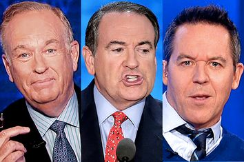 Bill O'Reilly, Mike Huckabee, Greg Gutfeld