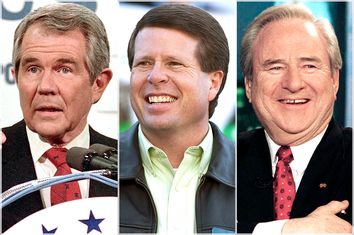 Pat Robertson, Jim Bob Duggar, Jerry Falwell