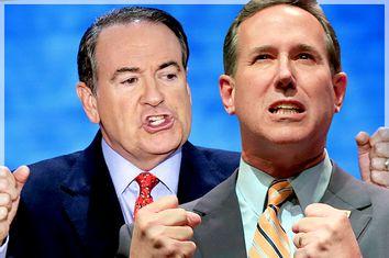Mike Huckabee, Rick Santorum