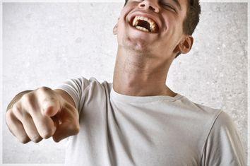 Man Pointing Laughing