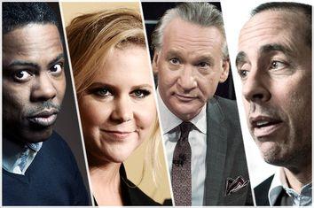 Chris Rock, Amy Schumer, Bill Maher, Jerry Seinfeld