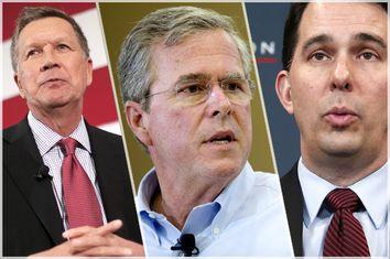 John Kasich, Jeb Bush, Scott Walker
