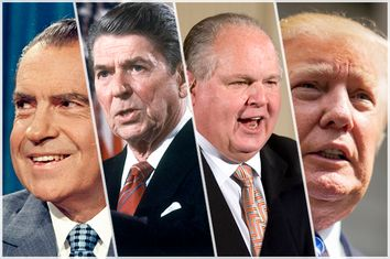 Richard Nixon, Ronald Reagan, Rush Limbaugh, Donald Trump